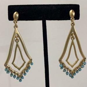 Lia Sophia 'Persia' goldtone turquoise earrings